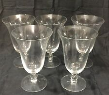 Set of 5 Vintage Imperial Candlewick Crystal Water Goblets