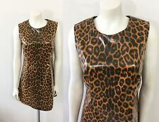 Lip Service Animal Print Dress Large Sexy Fetish Goth Punk Shiny Leopard Print