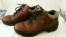 Timberland Leather Field boot with Green Nubuck Collar Mens Size 7.5, Women's 9