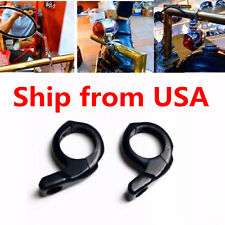 """Black 1"""" Handlebar Turn signal / Mirror Clamps Mount For Harley Dyna Sportster"""