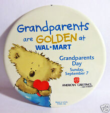 Pinback Button Walmart Promo Grandparents Day Sun Sept 7 2003 American Greetings
