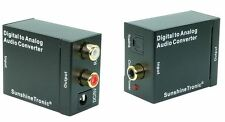 Digital zu Analog Audio Konverter + 2x 0,7m Kabel(Cinch, Toslink) #USB-DA3-MS