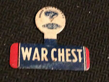 Green Duck Chicago War Chest Metal Tab Button