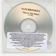 (FU584) Sam Brookes, This Is The Place - 2014 DJ CD