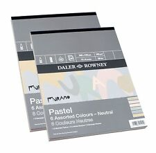 "Daler Rowney Murano Pastel Paper Pad 6 Neutral Colours 16 x 12"" 30 Sheets Ivory"