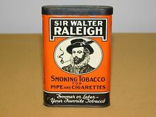 VINTAGE SIR WALTER RALEIGH PIPE & CIGARETTES SMOKING TOBACCO TIN *EMPTY*