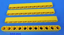 LEGO technique Nr- 6028107 / 11 Trou jaune Barres à trous - Liftarm / 4 Pièces