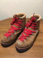 VTG Sears Brown Split Suede Mountaineering Waffle Stomper Hiking Boots 8 B