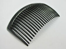 10 Black Plastic Smooth Hair Clips Side Combs Pin 82X50mm for Ladies Craft
