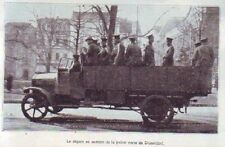 1929  --  LE DEPART EN CAMION DE LA POLICE VERTE DE DUSSELDORF   T938