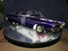 LOWRIDER 64 CHEVY ERTL AMERICAN MUSCLE 1:18 PURPLE IMPALA DISPLAY PIECE CUSTOM