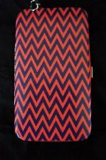 Material Girl Phone Case Wristlet Purple Multi ZigZag Non Leather Phone Wallet