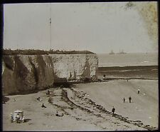 Glass Magic Lantern Slide WHITE CLIFFS OF DOVER NO2 C1890 PHOTO ENGLAND