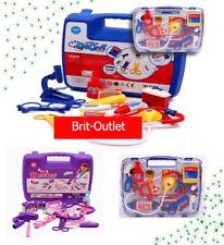 New Child Kids Play Set Doctor Nurse Medical Kit Carry Dress Up Case Toy Gift UK
