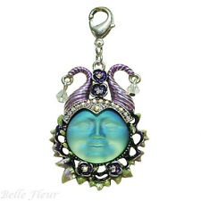 Kirks Folly Maleficent Seaview Moon Charm ~20mm Green Moon~