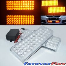 Rd Construction Light 96 LED Amber Grill Bull Bar Top Front Mode Flashing Light
