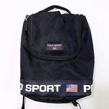 Polo Sport Mini Backpack Vtg 90s Ralph LaurenSpell Out Navy Blue Flag 2 Pocket
