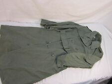 1967 Dated Vietnam War US Army Green 274 Quarpel Raincoat with Belt Size 36S
