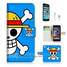 """iPhone 6 (4.7"""") Print Flip Wallet Case Cover! One Piece Blue Sign P0150"""