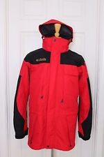 Mens Columbia Titanium Omni Tech Interchange 3 in 1 Red Parka Ski Jacket Hood
