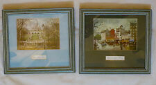 "2 x  ""Scene of Paris"" prints by 'Georges B.' ( 'Sacre Coeur' & 'Moulin Rouge')."
