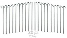 20Piece Galvanized Steel Tent Pegs Garden Stakes, New, Free Shipping