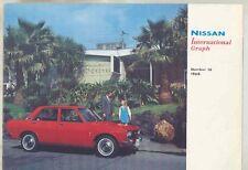 1968 Datsun Nissan Magazine Brochure 510 R380 1600 Patrol 240Z Prototype wv1874