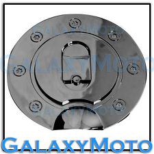 99-10 Ford Super Duty F250 F350 F450 Black Chrome ABS Gas Fuel Tank Door Cover