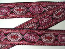Orientalische Borte,Schwarz,Pink,Rot,Rosa,33mm,lfm