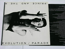 "PRINCE AND THE REVOLUTION parade Original Innencover TOP! 12"" Vinyl LP"