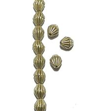 MBL914p Antiqued Bronze 6mm Corrugated Bicone Metal Spacer Beads 100/pkg