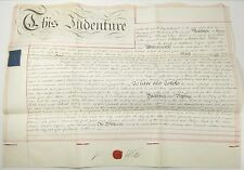 Original English VELLUM Land Lease Indenture Middlesex Surrey Wells Hoare 1825