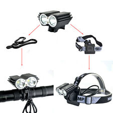 2X Cree XM-L2 U2 Bicycle Bike Light Bicycle Lamp Flashlight  LED Light Black