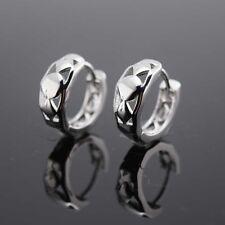 18k White Gold Filled Earrings 15mm 6mm Hoop GF Charm Women Fashion Jewelry Cute