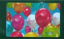 2x Birthday ballons 2015 GIFT CARD FROM WALMART BILINGUAL NO VALUE *new*