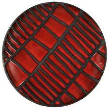 """Céramique ROGER CAPRON """"Tribal Rouge/Noir"""" VALLAURIS 50 Design/chambost/jouve..."""