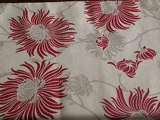 """Laura Ashley Kimono Mirtillo Rosso 80"""" x 11.5"""" LINEN TABLE RUNNER completamente foderato. NUOVO"""