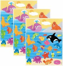 Mrs Grossman's SEA Life Fish Whale Walrus Dolphin Scrapbook Stickers 3 Sheets