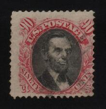 "US Stamp Scott #122 90c ""Lincoln"" Used light cancel, exc color Cat Val $1,900.00"