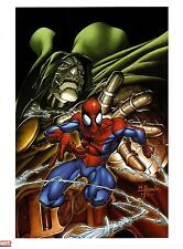 "MARK BROOKS - SPIDER-MAN & DR, DOOM MARVEL AGE ART PRINT - 12""X16"""