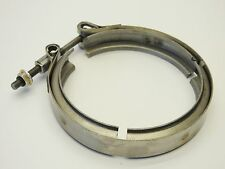"4"" Stainless V-Band Clamp 6.0L 7.3L Ford Powerstroke Turbo Exhaust Down Pipe VBA"