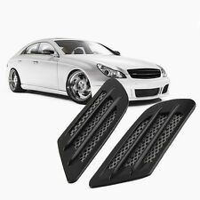 Car Side Air Flow Vent Hole Cover Fender Intake Grille Decoration Sticker WS