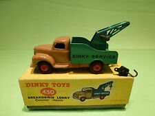 DINKY TOYS 430 COMMER BREAKDOWN LORRY  -  RARE SELTEN -  IN BOX
