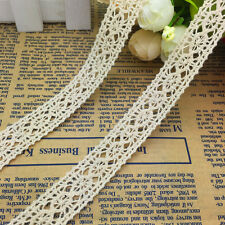 NEW 2 Yard 18mm Wide Vintage Embroidered Lace Sewing Trim Crafts #A02