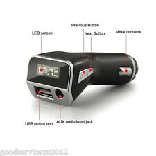 3-Function Car Mini Charger Cellphone USB & MP3 Player & Handfree FM Transmitter