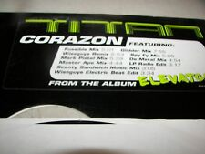 "TITAL CORAZON 2x12"" Single NM Virgin 7087-6-15718-1-3 1999 PROMO"