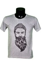 T-SHIRT BARBE - HIPSTER - MARIN - BEARDED MAN - DRAWING - ILLUSTRATION TAILLE S