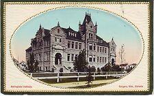 Canada Alberta Calgary Collegiate Institute old vintage embossed frame postcard