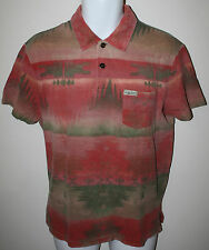 RALPH LAUREN Polo Red Olive Green Indian Blanket SS Polo Shirt NWT Men L