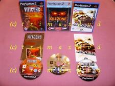 3x PS2 _ Vietcong Purple Haze & Killzone & Battlefield 2 Modern Combat
